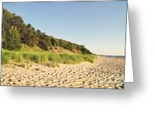 Lake Michigan Dunes 02 Greeting Card