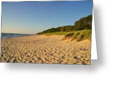 Lake Michigan Dunes 03 Greeting Card