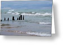 Lake Michigan Green Greeting Card