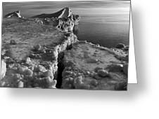 Lake Michigan Ice V Greeting Card