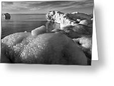 Lake Michigan Ice X Greeting Card