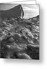 Lake Michigan Ice Xii Greeting Card