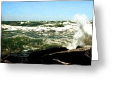 Lake Michigan In An Angry Mood Greeting Card