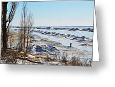 Lake Michigan In Ice Greeting Card