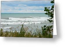 Lake Michigan In Racine Greeting Card