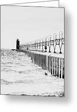 Lake Michigan Lighthouse Greeting Card
