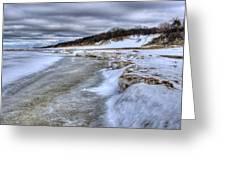 Lake Michigan Shelf Ice Greeting Card