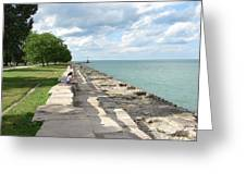 Lake Michigan Shore Near Foster Ave Beach Greeting Card