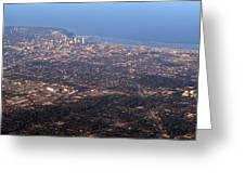 Lake Michigan Shoreline - Downtown Milwaukee  Greeting Card