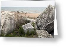 Lake Michigan Shoreline Greeting Card