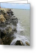 Lake Michigan Splash Greeting Card