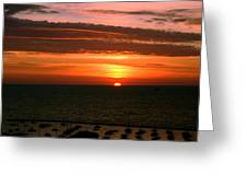 Lake Michigan Sunrise Greeting Card