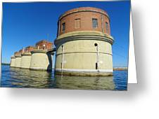 Lake Murray Sc Dam Greeting Card