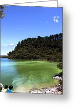 Lake Ngakoro Rotorua New Zealand Greeting Card