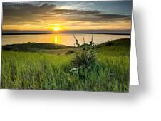 Lake Oahe Sunset Greeting Card