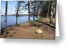 Lake Of Flames Greeting Card