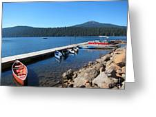 Lake Of The Woods Boat Harbor Greeting Card
