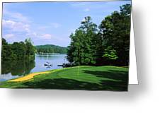 Lake On A Golf Course, Legend Course Greeting Card