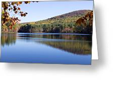Lake On Rural Road  Greeting Card