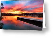 Lake Oneil Sunset Greeting Card