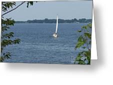 Lake Ontario Sailing Greeting Card by Kevin Croitz