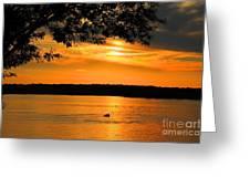 Lake Panarama Sunset Greeting Card