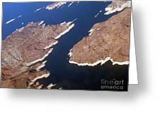 Lake Mead From Above Greeting Card