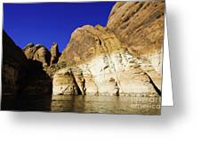 Lake Powell Rock And Sky Greeting Card by Thomas R Fletcher