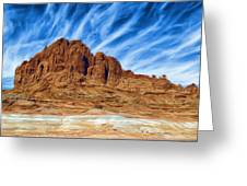 Lake Powell Rocks Greeting Card by Ayse Deniz