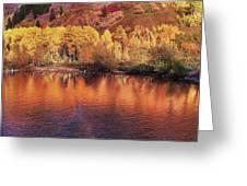 Lake Reflection In Fall 2 Greeting Card