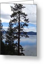 Lake Reflections At Tahoe Greeting Card