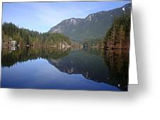 Buntzen Lake, Bc Reflections Greeting Card