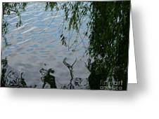 Lake Reflections Of Blue Greeting Card