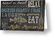 Lake Rules-relax Greeting Card