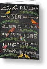 Lake Rules With Birds-d Greeting Card