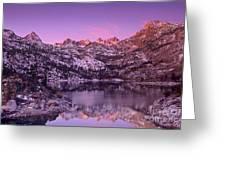 Lake Sabrina Sunrise Eastern Sierras California Greeting Card
