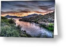 Lake Saguaro Sunset Greeting Card