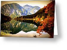 Lake Scene H A Greeting Card