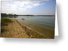 Lake Scene Greeting Card by John Holloway