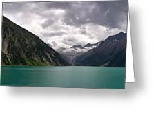Lake Schlegeis Greeting Card