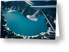 Lake Seen From A Seaplane Greeting Card