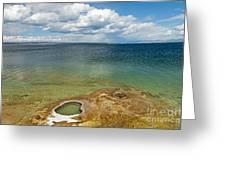 Lake Shore Geyser In West Thumb Geyser Basin Greeting Card