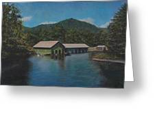 Lake Squam Off Rte. 3 In Holderness Nh Greeting Card