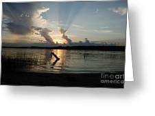 Lake Sunset 11 Greeting Card