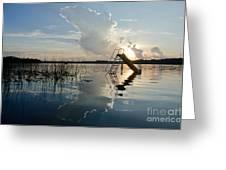 Lake Sunset 5 Greeting Card