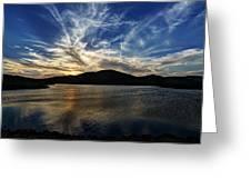Lake Sunset In The Wichita Mountains Greeting Card
