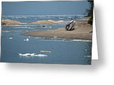 Lake Superior And Ice Greeting Card