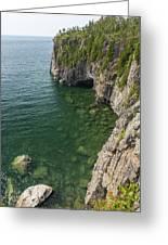 Lake Superior Cliff Scene 9 Greeting Card