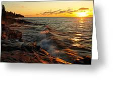 Lake Superior Dawn Greeting Card