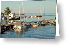 View Of The Harbor Greeting Card